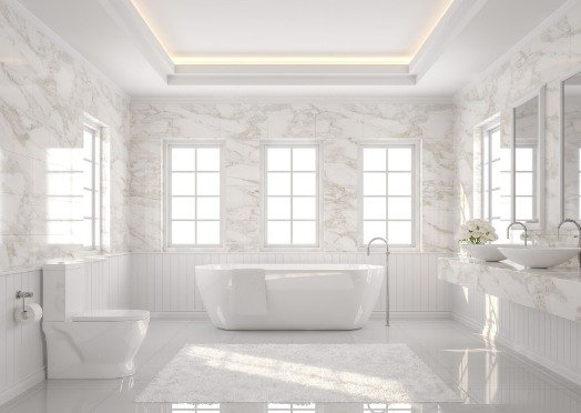 tiling-in-a-white-and-bright-bathroom at rockingham tilers